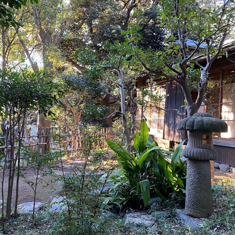 杉村楚人冠記念館茶室遠景