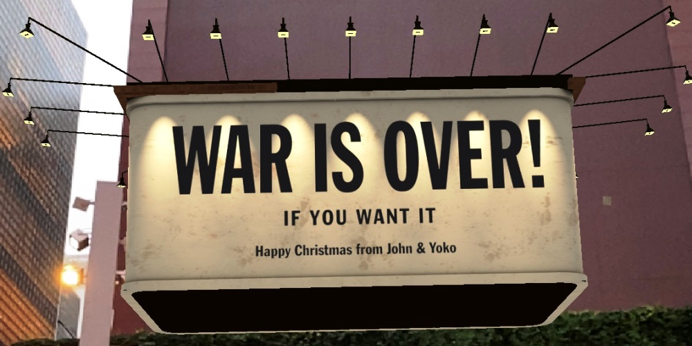 DOUBLE FANTASY - John & Yoko AR巨大ビルボードサイン