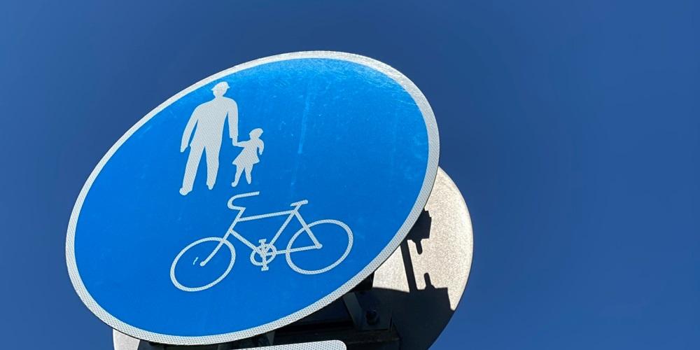 「自転車及び歩行者専用」(325の3)の道路標識
