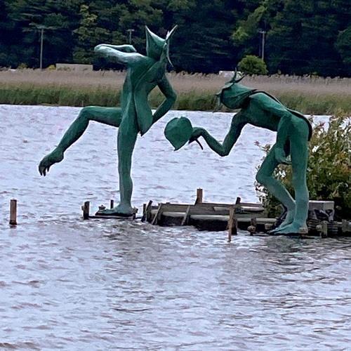 手賀沼の河童の像